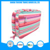 New Design Stripe Printed Microfiber Cosmetic Bag with PVC Inside Pocket