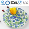 Flower Round Tempered Glass Plate Cake Glass Plate Nut Plate