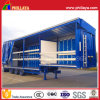 3 Axles Stepwise Semi Curtain Side Trailer for Bulk Cargo Transport