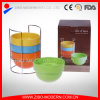 Wholesale Color Glaze Ceramic Stackable Bowl with Metal Rack