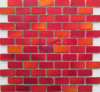 Cool Paving Red Crystal Matt Face Brick Glass Mosaic (CFC612)