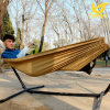 a Single Household Tourism Khaki Canvas Hammock