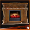 Factory Directly Livingroom Stone Carving Fireplace Surround Fireplace Metal