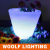 Color Plastic Flower Pot/ Color Changing LED Flower Pot