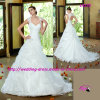 2015 Romantic Beauty Gown Wedding Dress with Cap Sleeves