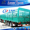 3 Axle 50-60t Livestock Animal Transport Fence Stake Store House Bar Semi Trailer (half locking lever) (LAT9390CLXY)