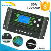 30A off Grid Solar Charge Controller 12V/24V with Settable LCD-Backlight