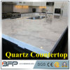 Carara White Like Affordable Quartz Countertops with Customized Size