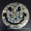 2017 Clear Hotfix Glass Rhinestone Patch Smiling Face Lead Free Rhinestone Appliques for Garment/Shoes/Hats (TP-smiling face)