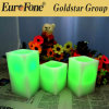2016 Factory Direct Real Paraffin Wax Flameless LED Candle 3 Sizes/Set with Remote Control