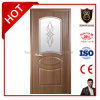 Morden Design Solid Wooden Door with Carved Glass, French Door