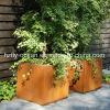 FO-9C39 Modern Outdoor Corten Steel Flower Pot with High Quality