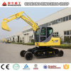 Hydraulic Excavator Wheel Excavator and Crawler Excavator Together