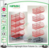 Collapsible Promotional Stacking Wire Basket for Supermarket