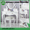 White Finished MDF Vanity Table with Bench Set (W-HY-018)