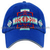 Contrast Stitching Print Applique Embroidery Sport Baseball Cap (TMB0357)