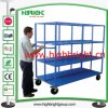 Heavy Duty Warehouse U Boat Cart with Six Wheels