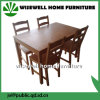 5PC Pine Wood Dining Table Set