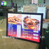 Aluminum Magnetic LED Backlit Poster Frame Light Box Menu for Restaurant Fast Food Advertising Display Sign