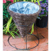 Salim Rattan Multifunction Cone Basket Planter