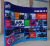 Custom Large Size Promotion Display Tension curved pop up fabric banner