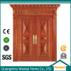 Exterior Furniture Wooden Door with Glass for Security