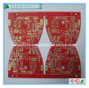 Fr-4 2 Layer Red Soldermask PCB with Immersion Gold