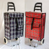 Foldable Polyester Metal Microfiber Material Wheeled Shopping Smart Hand Cart