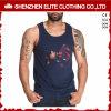 Wholesale Cheap Bodybuilding Mens Black Cotton Polyester Singlets (ELTMBJ-262)
