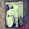 Outdoor Decorations 20*30cm Marilyn Monroe Metal Plate