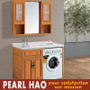 Solid Wood Brown Laundry Cabinets Amercia Apartment Project