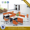 New Design L-Shaped 4 Person Office Workstation Partition Cubicle (HX-NPT053)