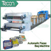 Cement Paper Bag Making Machine with 4 Colors Printing in Line
