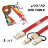 3 in 1 Lanyard Design USB Cable with OEM/ODM Promotion Gifts