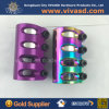 Aluminium Clamps with Pretty Surface Finish Muticolor Plating