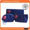 New Products Blue Velvet with Purple Rose Velvet Cosmetic Bag
