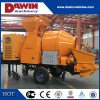 30m3/Hr Diesel Trailer Concrete Mixer Pump with 450L Drum