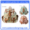 Mushroom Print Backpack Double Shoulder Bag (RSB-005)