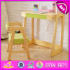 2015 New Children Table and Chair, Kids Study Table Chair, Best Price Dining Table Chair Wooden Furniture W08g156A