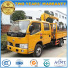 Dongfeng Double Cab 2 Tons Straight Arm Truck Mounted Crane for Sale