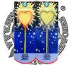 Heart Shape Sparkler Blister Fireworks Toy Fireworks Party Supplies