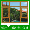 Wooden Colour UPVC Casement Window with Franch Style
