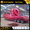 3 Rows 6 Axles Wind Blade Transport Trailer with Fixture