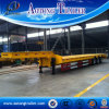 60 Tons Gooseneck Flat Deck Trailer, 3 Axle Drop Deck Semi Trailers for Sale