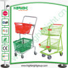 Double Deck Baskets Shopping Trolley Cart