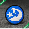 Round Shape Textile Woven Badge for Clothing