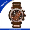 Multifunction Quartz Chronograph Watch with Silicone Band