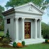 American Style Grey Granite 6 Person Private Mausoleum