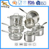 12-Piece Stainless Steel Set with Glass Lid (CX-SS1206)