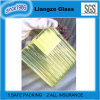 Light Yellow Art Glass with Pattern